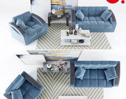 3D model Sofa Armchair Monreal Hoff Picture Decor