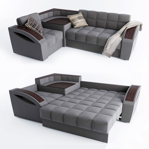 Corner sofa bed Montreal with a left angle Hoff | 3D model