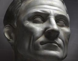 character 3d Bust of Julius Caesar
