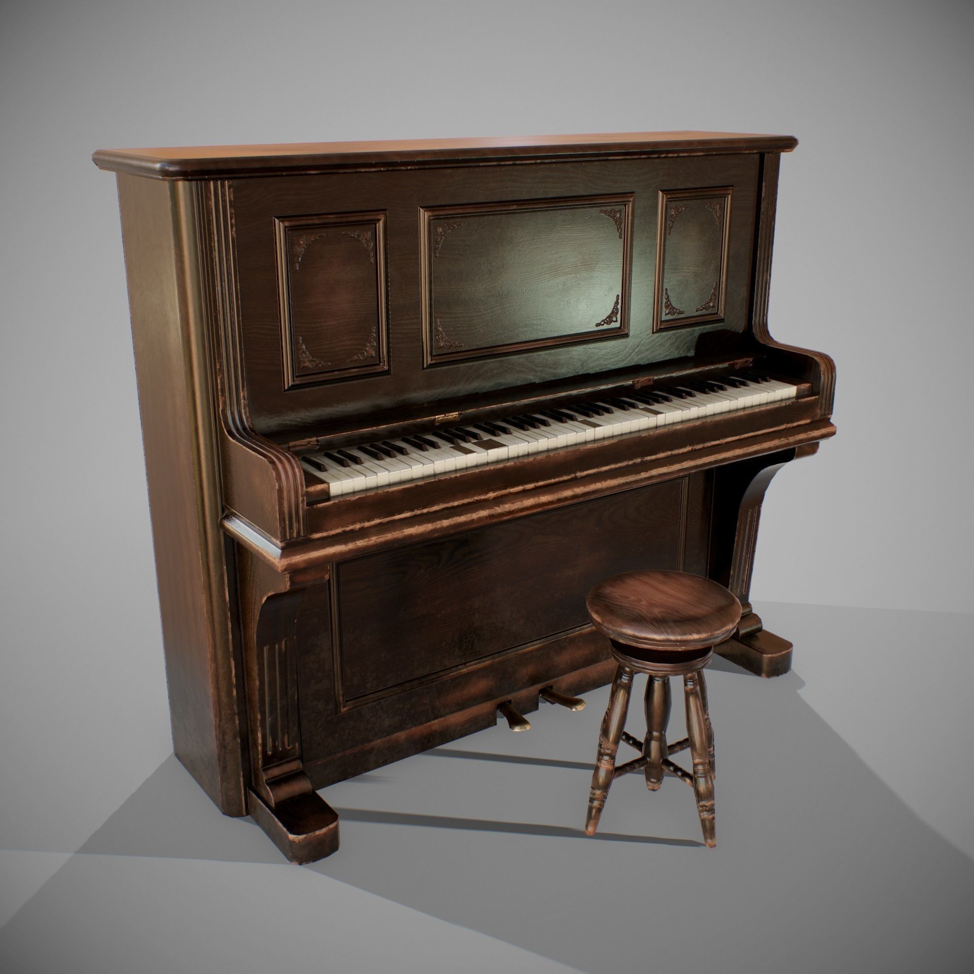 PBR Old Piano