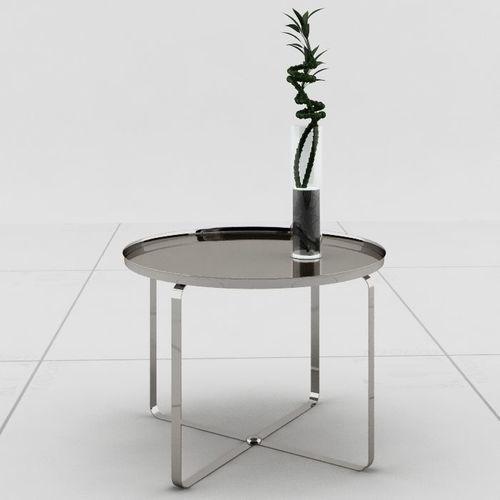 chromed table center 3d model max 1
