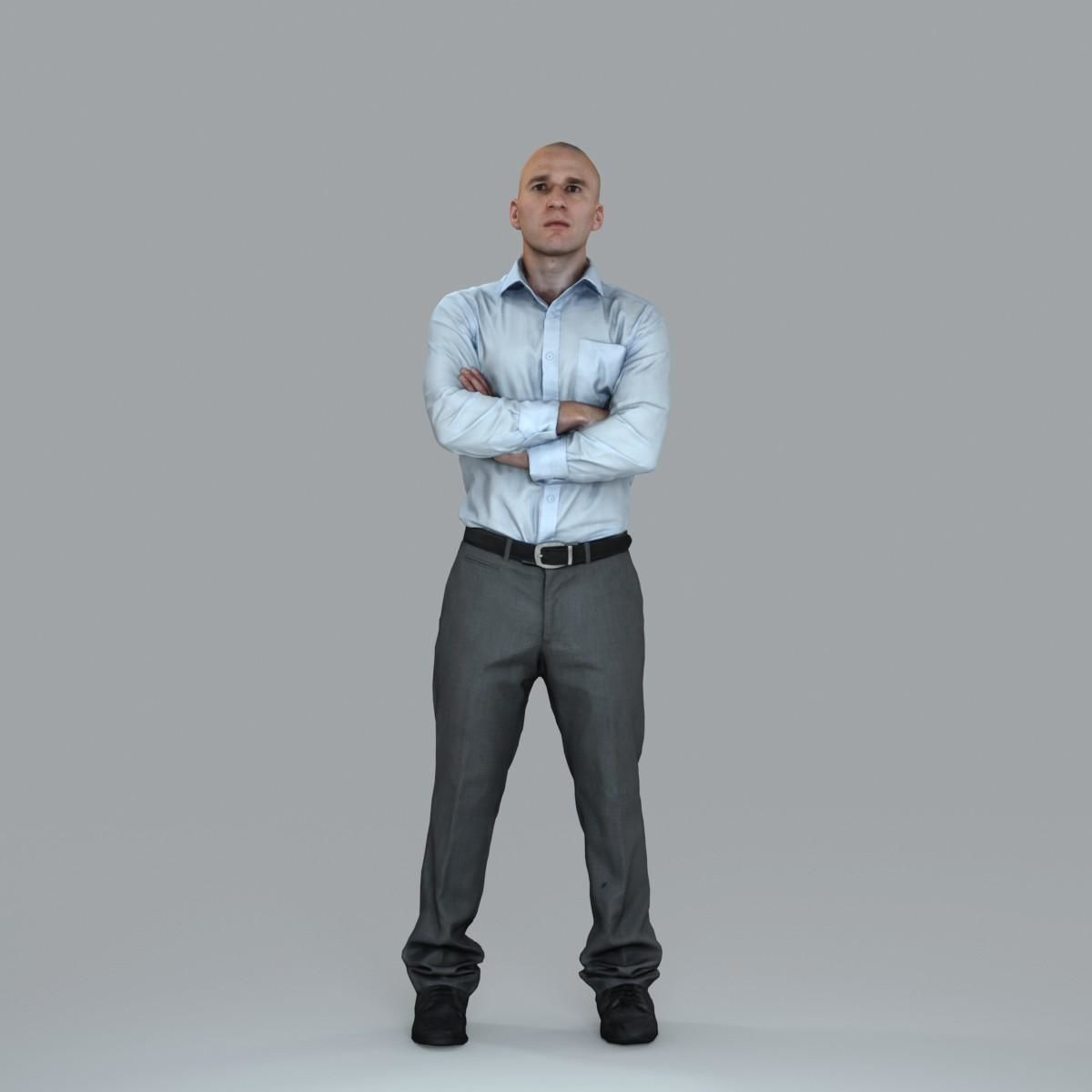 Arms-Crossed Standing Business Man BMan0006-HD2-O01P12-S