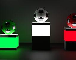 3D model High-poly Football Ball