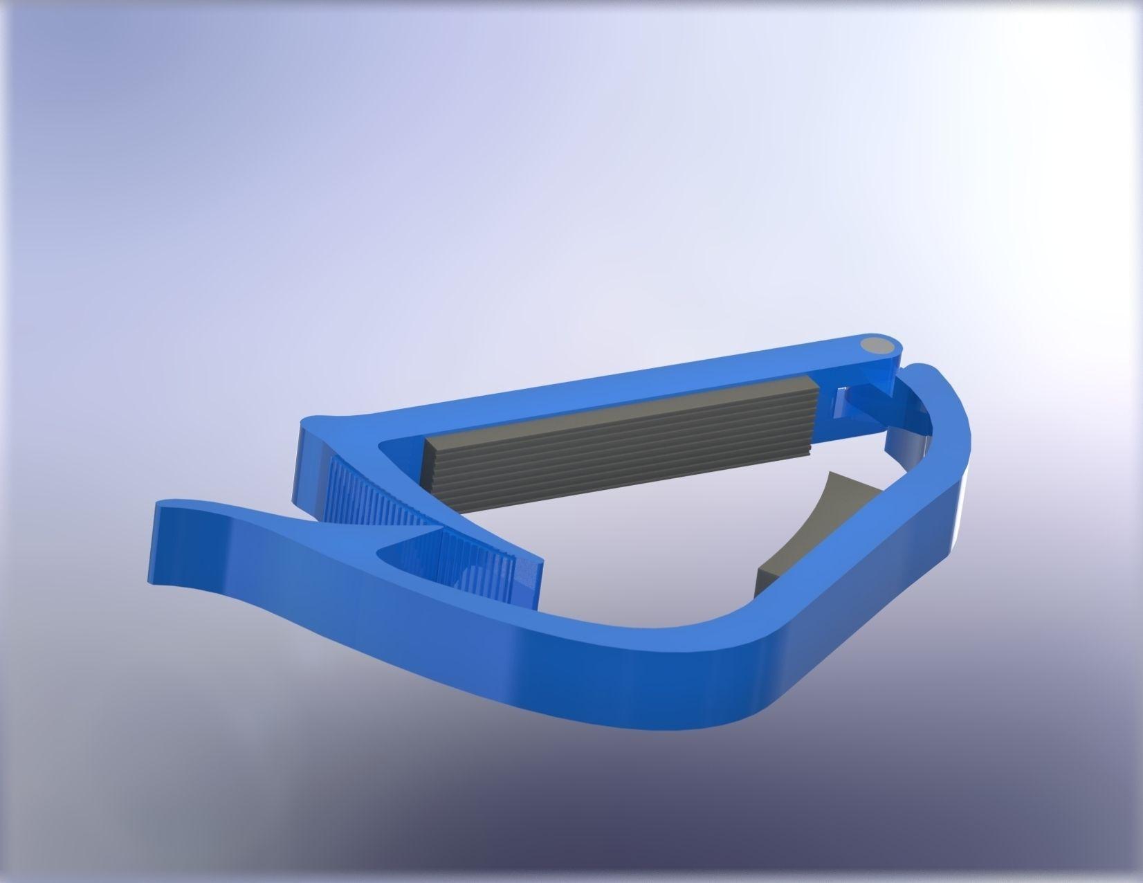 Guitar plastic capo 3D Model 3D printable .max .3ds .ige ...