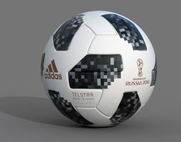 3D model Soccer Ball 2018 Telstar 18