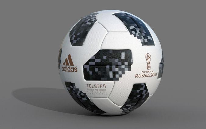 soccer ball 2018 telstar 18 3d model max obj fbx 1