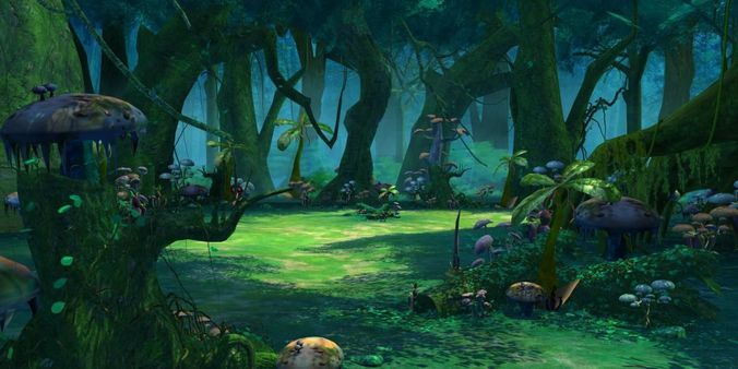 Cartoon Forest Scene 01 3d Cgtrader