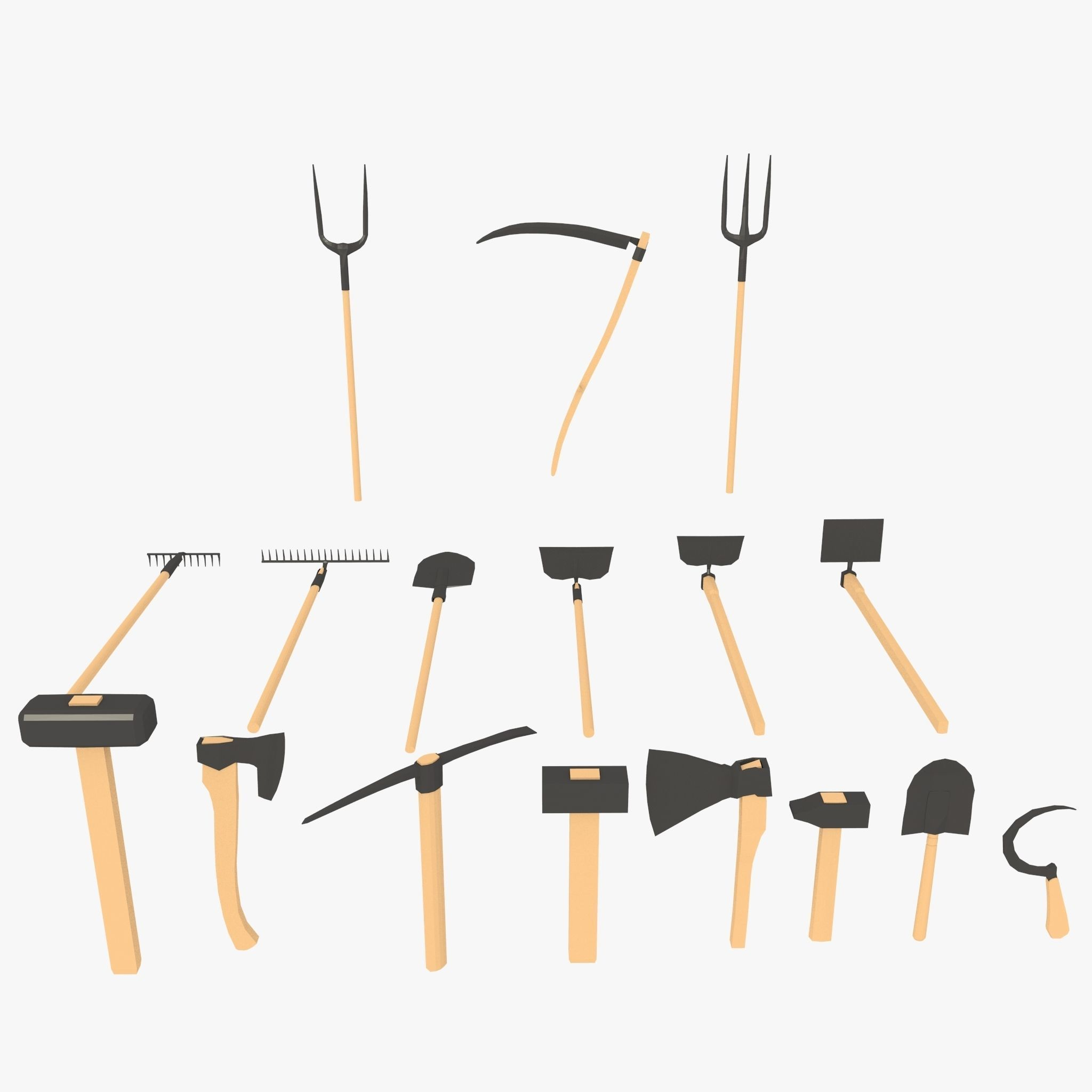 low poly tools pack