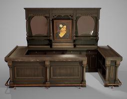 3D asset PBR Western Bar