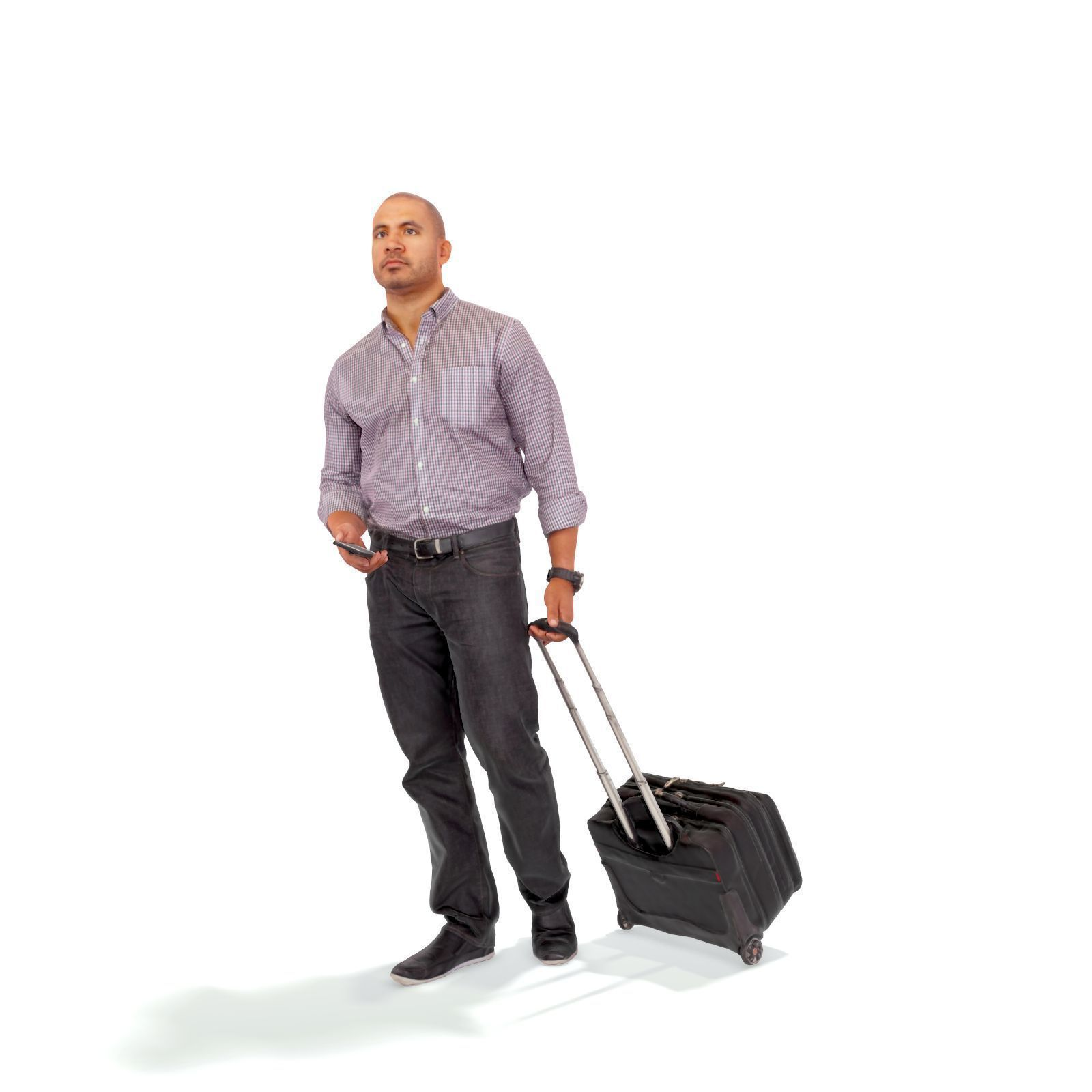 Traveling Man with Small Suitcase CMan0215-HD2-O01P01-S