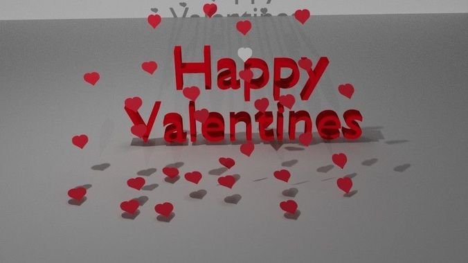 happy valentines day 3d model obj 3ds fbx stl blend mtl 1