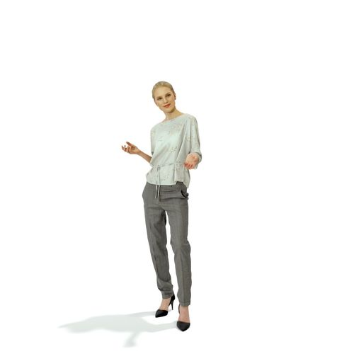 43823a2e0297 Standing Blonde Woman with Grey Pants BWom0314-HD2-O03P01-S 3D model