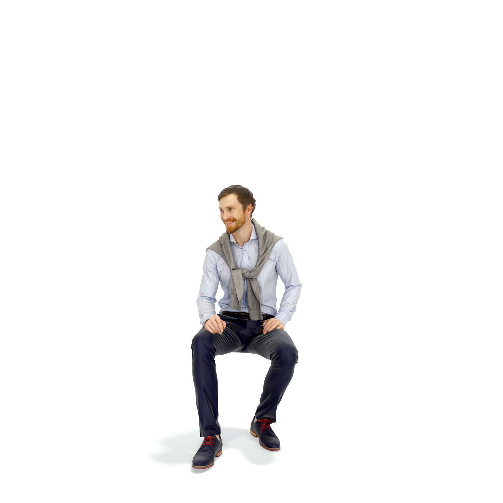 Sitting smiling Elegant Man EMan0313-HD2-O04P01-S