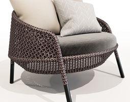 3D model DEDON AHNDA Lounge Chair