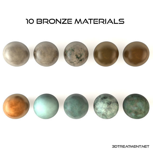 10 Bronze Material Shaders for Cinema4d | Texture