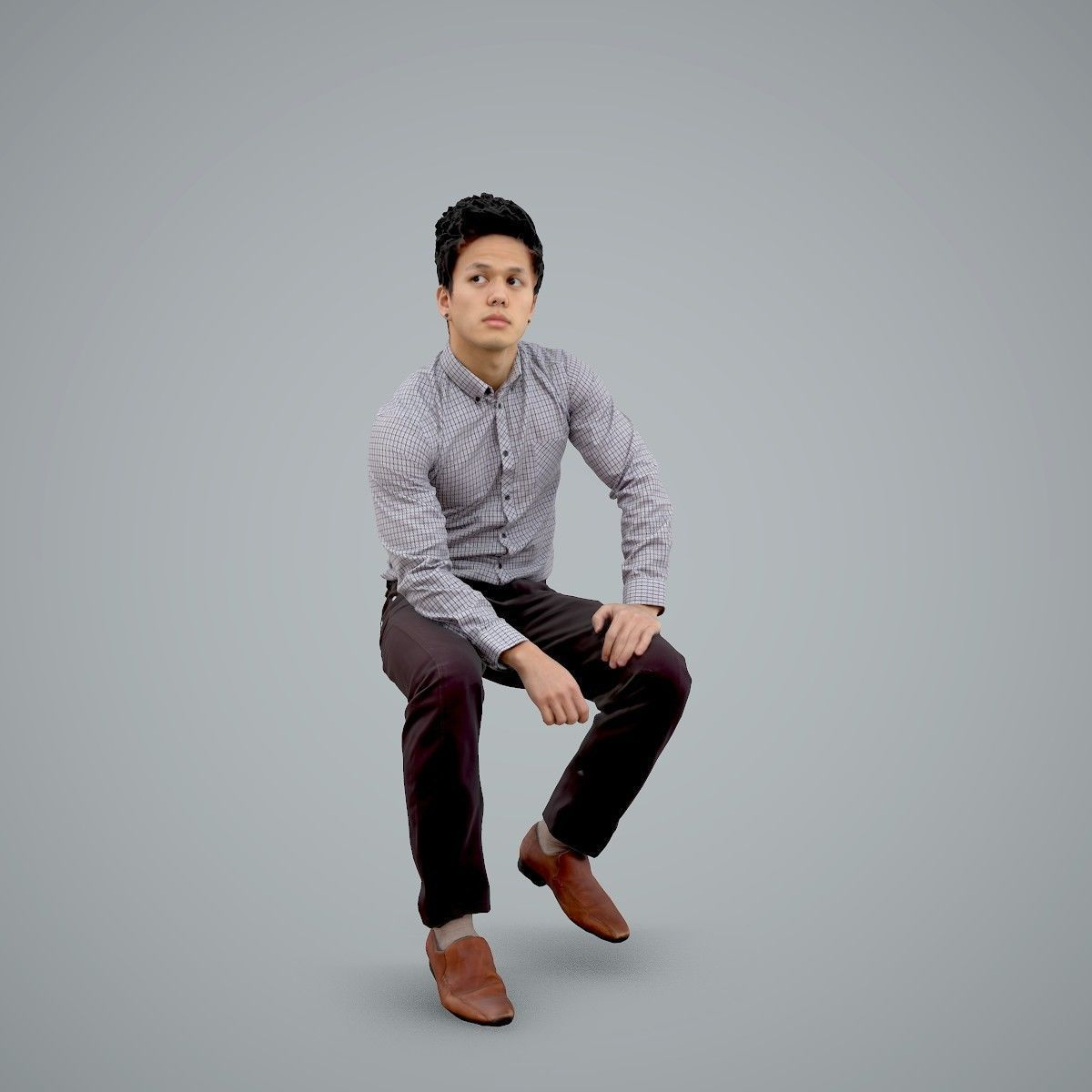 Casual Business Man Sitting BMan0103-HD2-O02P01-S