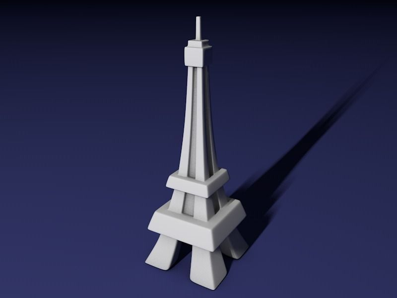 Eiffel Tower Free 3d Model 3d Printable Obj 3ds Fbx