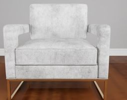 3D model Avery velvet chair