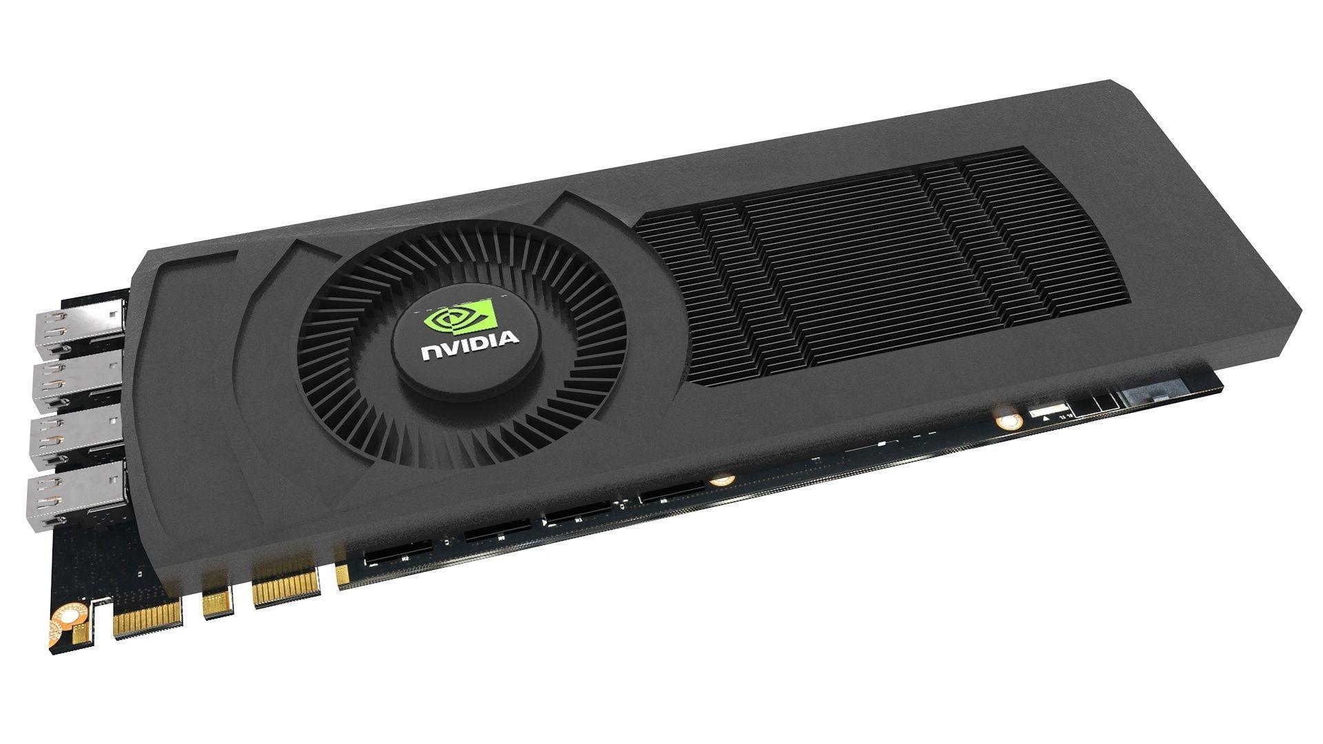 Graphic Card Nvidia detailed PCB PCI-E Display Port