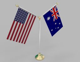 3D United States of America and Australia VR / AR ready 1