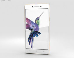 Oppo Neo 7 White mobile 3D model