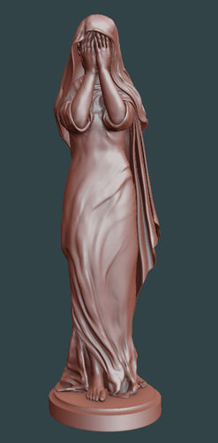 crying woman statue 3d model stl ply 1