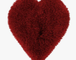 3D Red Heart rug