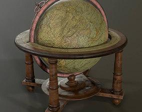 Antique World Globe 3D asset
