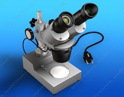 3D model Laboratory microscope MC-1