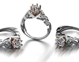 diamond fashion ring jewelry design 15 3D printable model