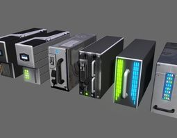 sci fi servers 3D model