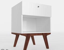 Modern nightstand by West Elm 3D model