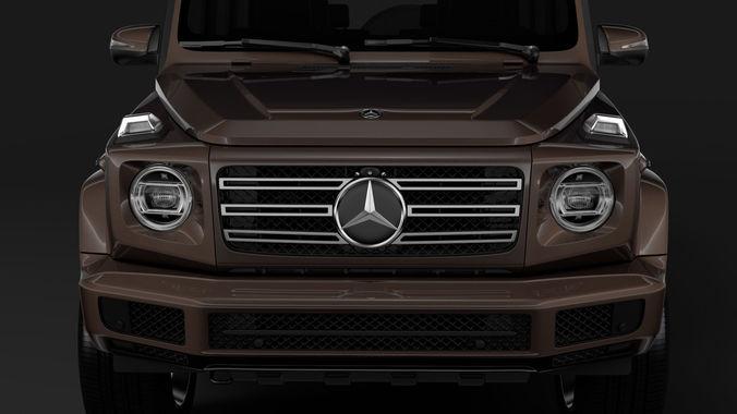 mercedes-benz g 500 w464 2018 3d model max obj 3ds fbx c4d lwo lw lws 1