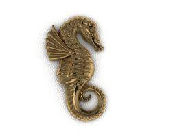 Sea Horse hippocampus 3D print model