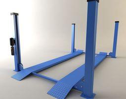 Car lift four-rack Master 3D Model