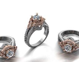 diamond fashion ring jewelry design 56 3D printable model