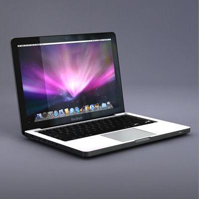 3d apple macbook laptop cgtrader