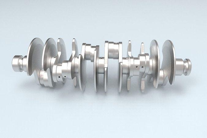 3d printable crankshaft 3d model stl 1