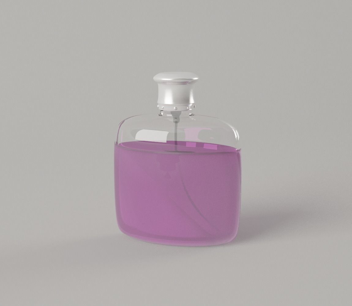 Perfume Bottle - Cosmetics Flask Detail for Bathroom 3D model