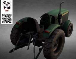 3D Farm machinery Tractor