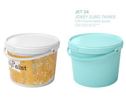 3D asset High Detailed Plastic Bucket with Handle and Lid