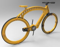 hubless bicycle concept design 3d