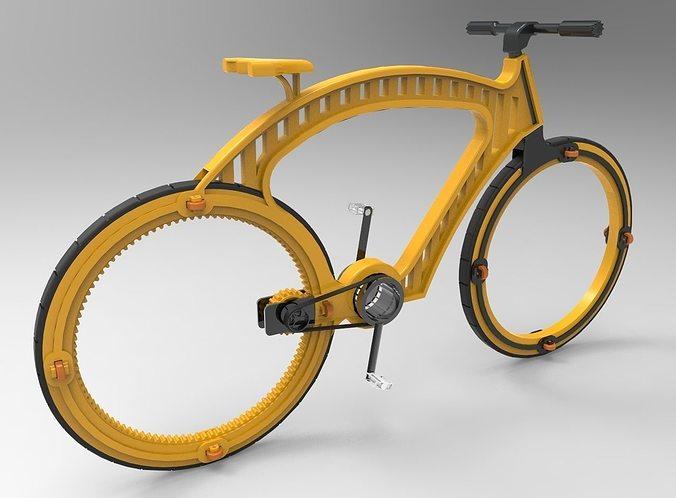 hubless bicycle concept design 3d model stl 1