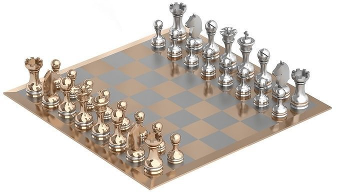 chess 3d model max mat 1