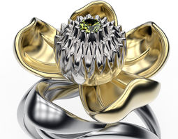 Ring Water Lily 3D printable model