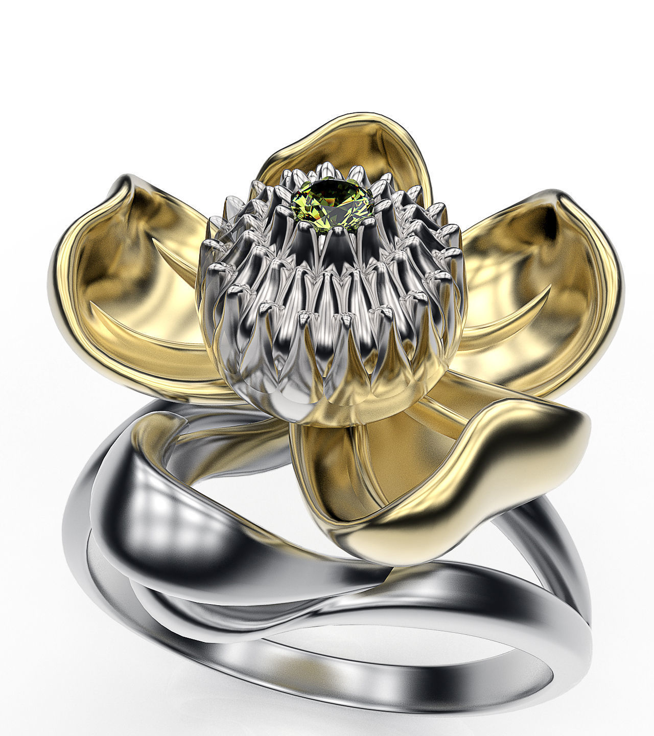 silver product with sterling ring engagement lily green tourmaline rings the calla