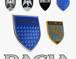 Dacia Emblem History Collection 3D model