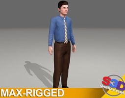 Businessman Nathan Rigged 3D model