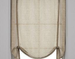Roman blinds 8 3D model