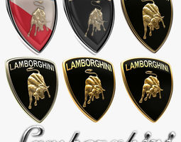 Lamborghini Badge History Collection 3D model